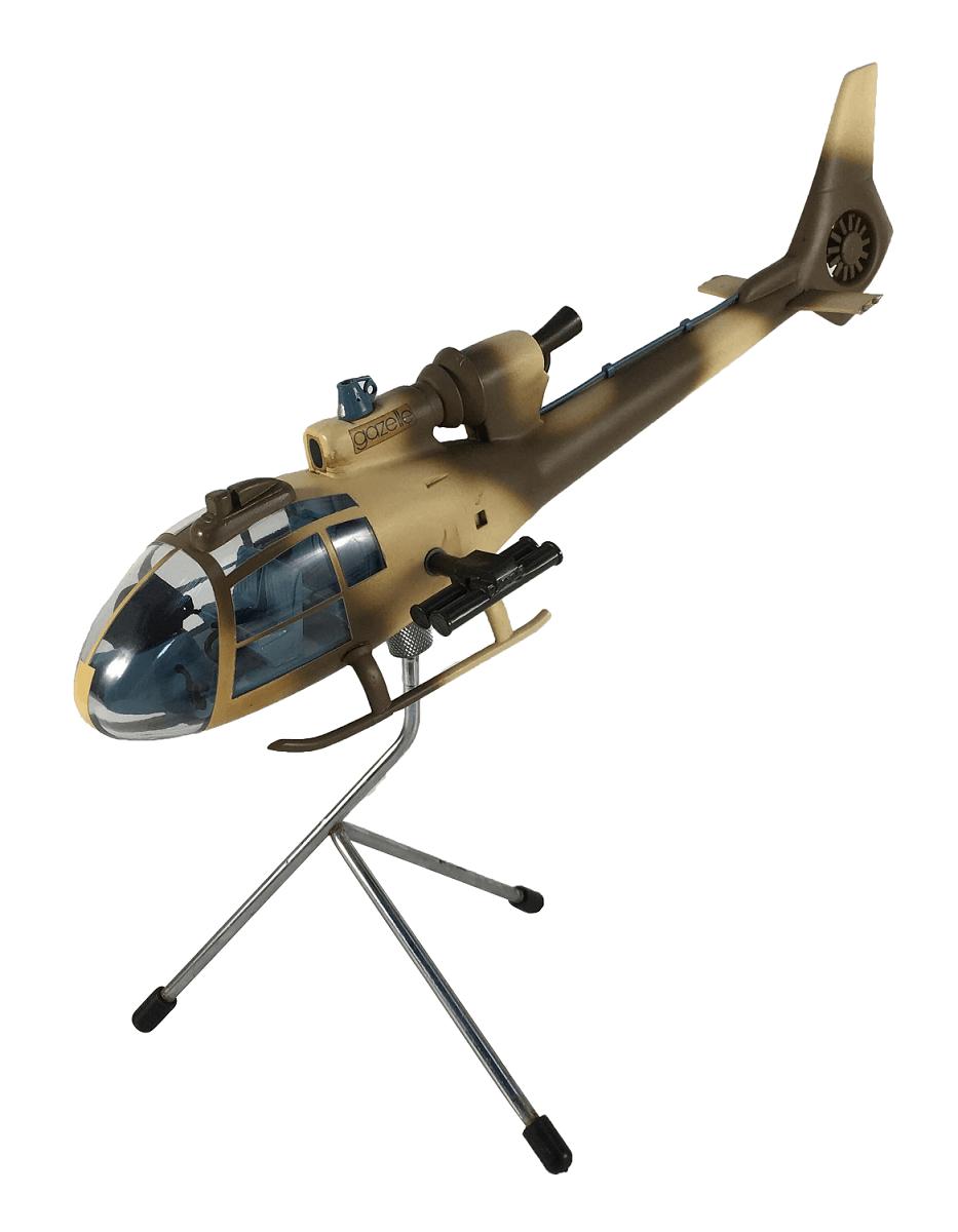 Antiga Miniatura Helicoptero Gazelle Ingles F.E Phelps