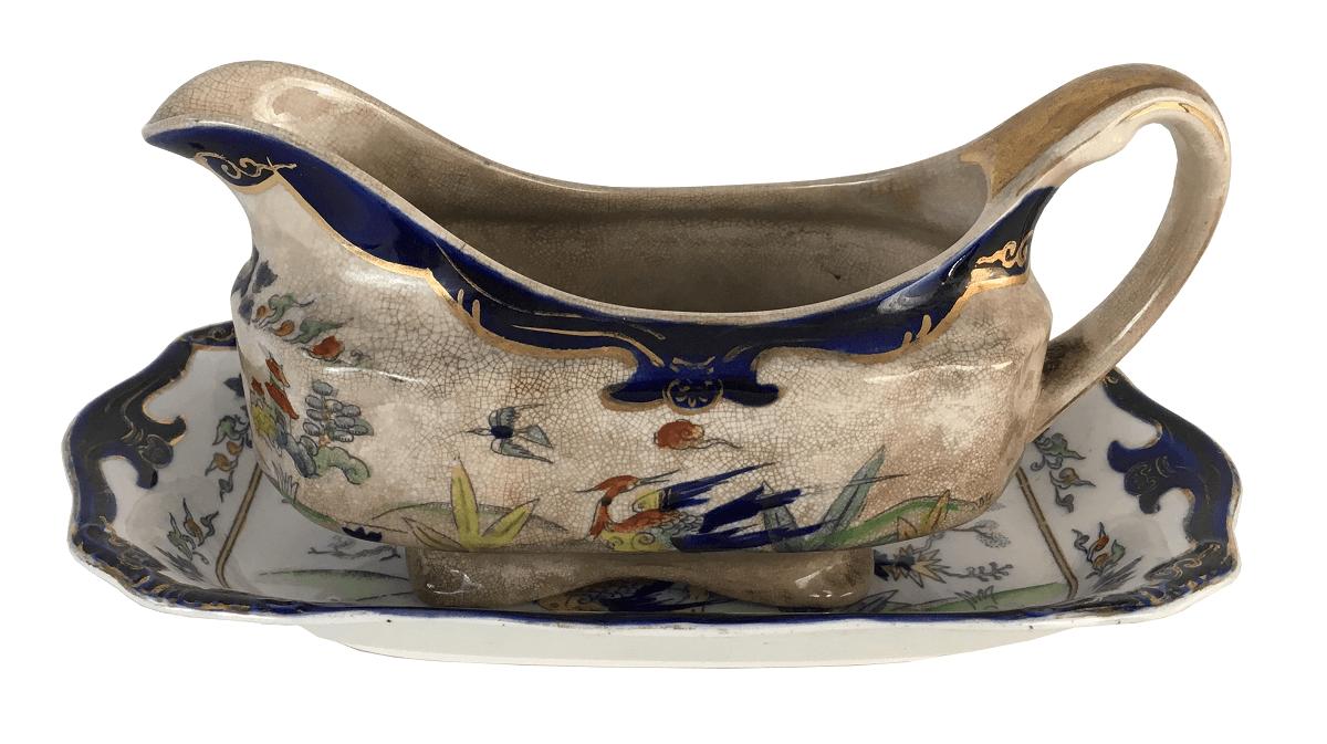 Antiga Molheira Com Presentoir Porcelana Japonesa Imperial