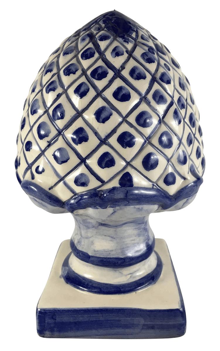 Antiga Pinha Ceramica Luiz Salvador Azul 31cm