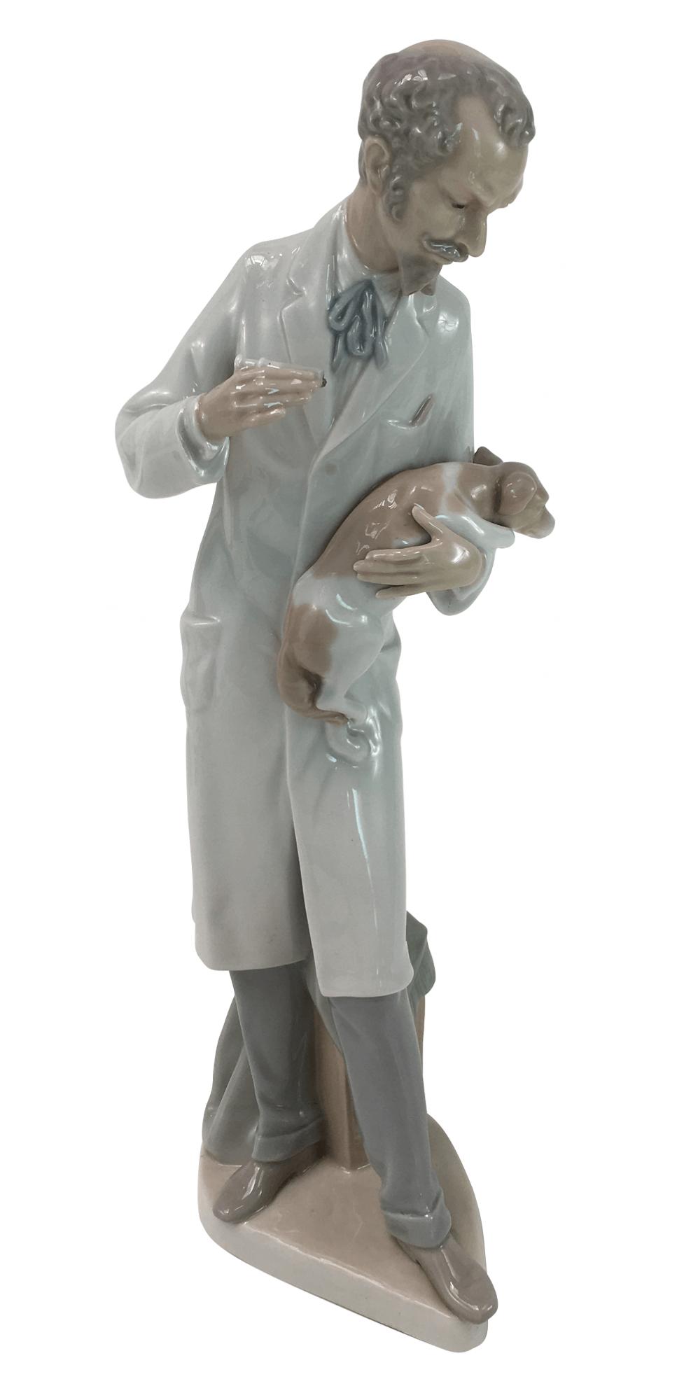 Antiga Porcelana Lladro Escultura Veterinario 34cm