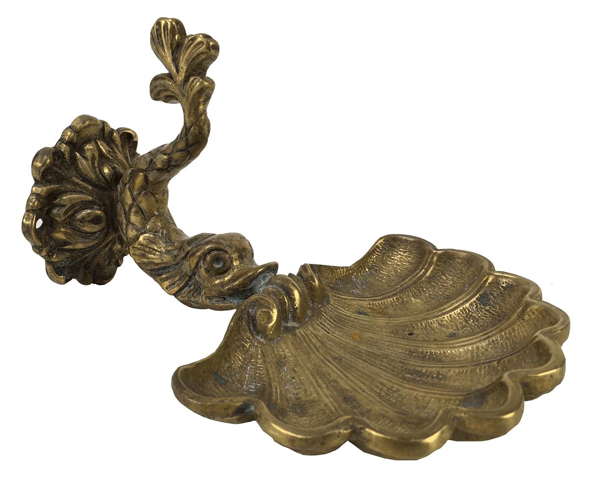 Antiga Saboneteira Em Bronze Formato Peixe