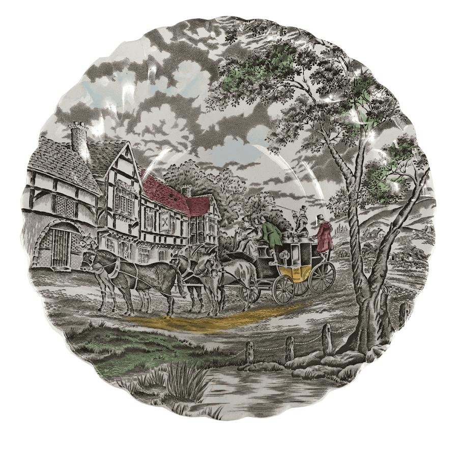 Antiga Saladeira Em Porcelana Inglesa Fazendinha Myott