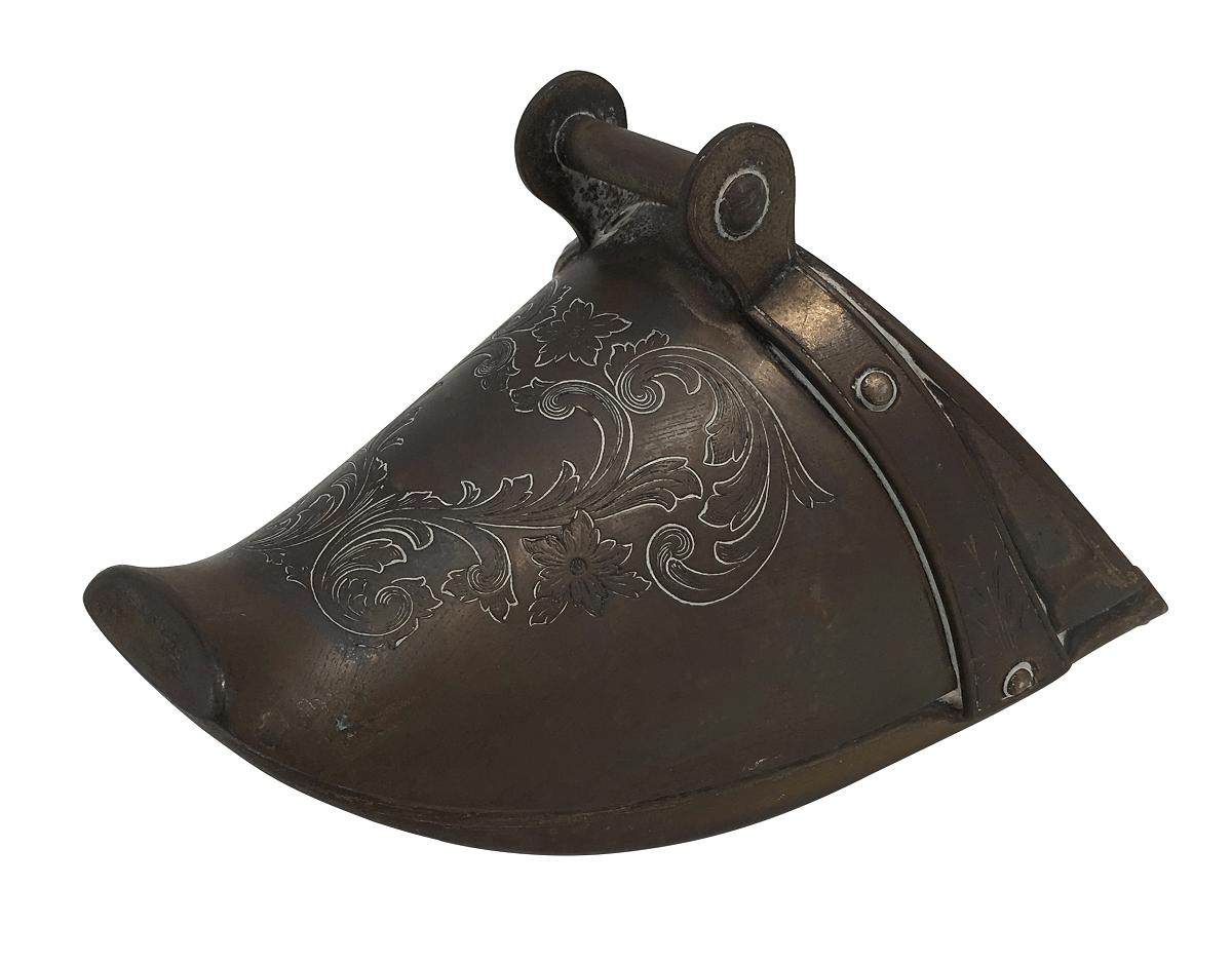 Antiga Sapata Estribo Infantil Metal Eberle