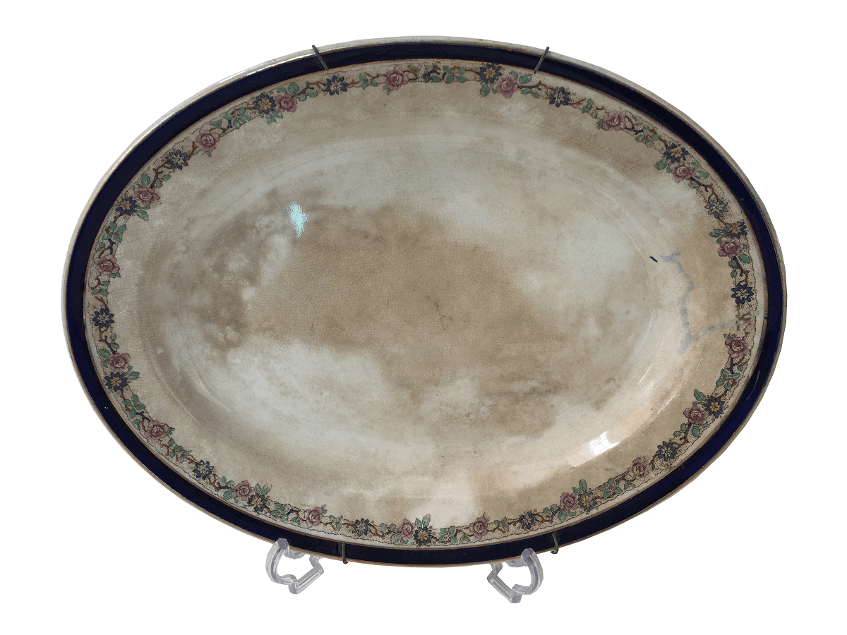 Antiga Travessa Oval Porcelana British Manufacture