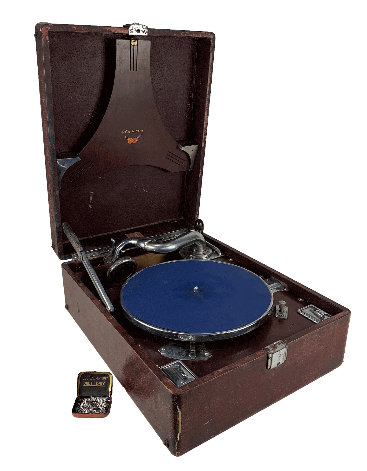 Antiga Vitrola RCA Victor Toca Discos Manivela