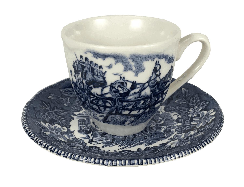 Antiga Xicara De Cafe Porcelana Inglesa Fazendinha