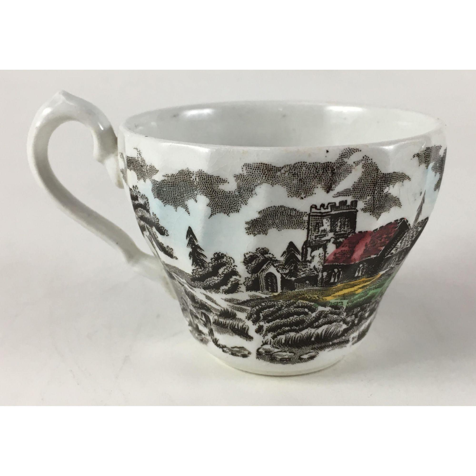 Antiga Xicara De Cafe Porcelana Inglesa Fazendinha Myott