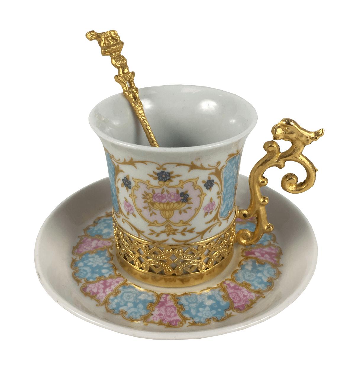 Antiga Xicara De Cafe Porcelana Tipo Limoges