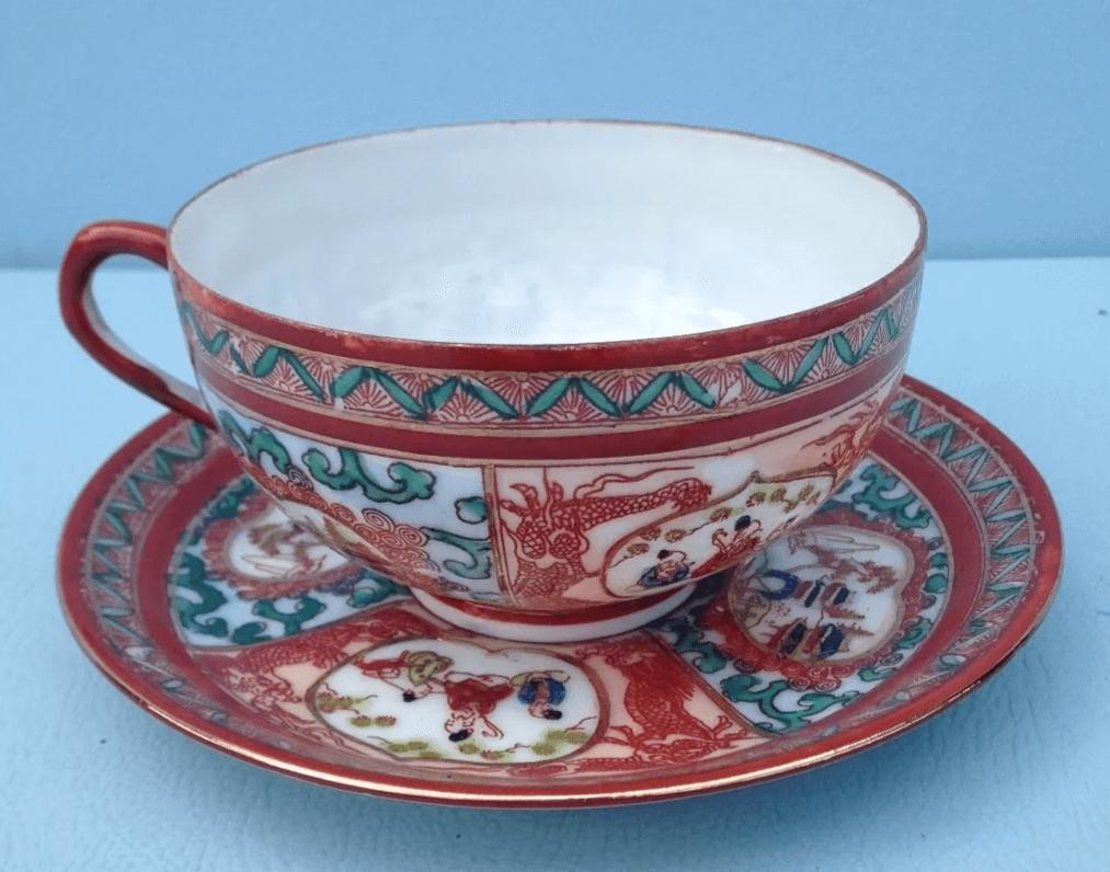 Antiga Xícara De Chá Casquinha De Ovo Japonesa
