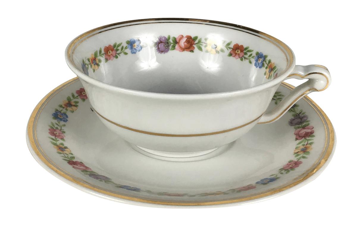 Xicara De Cha Porcelana Antiga Limoges