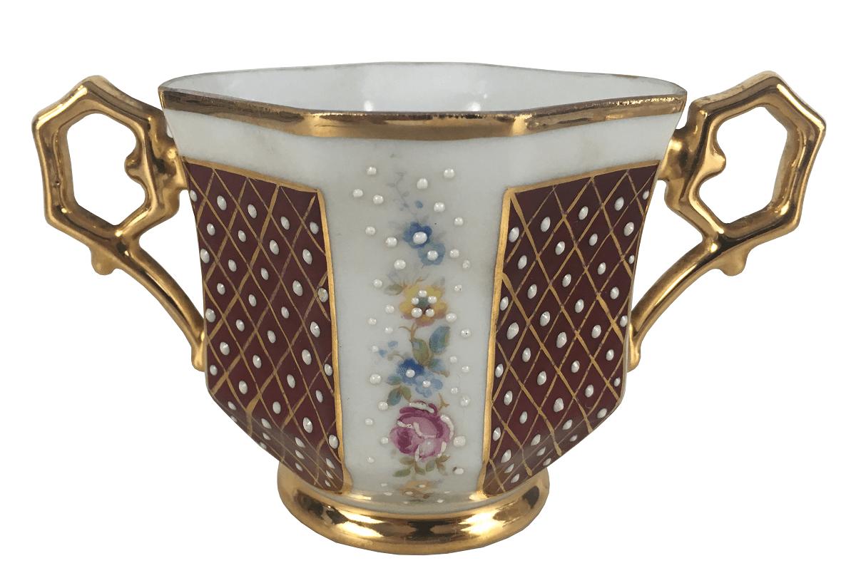 Antiga Xicara De Cha Porcelana Limoges Com Alça