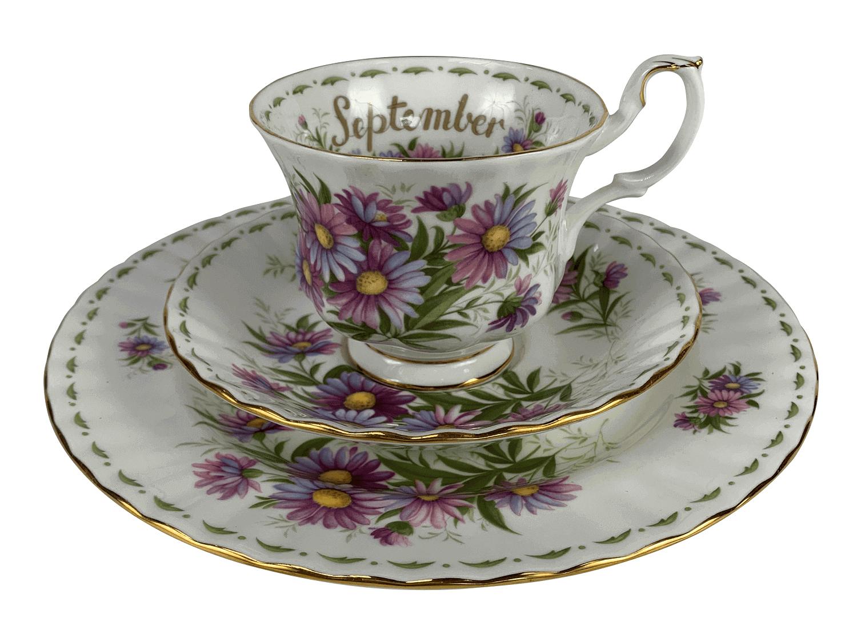 Antiga Xicara De Cha Porcelana Royal Albert Inglesa September
