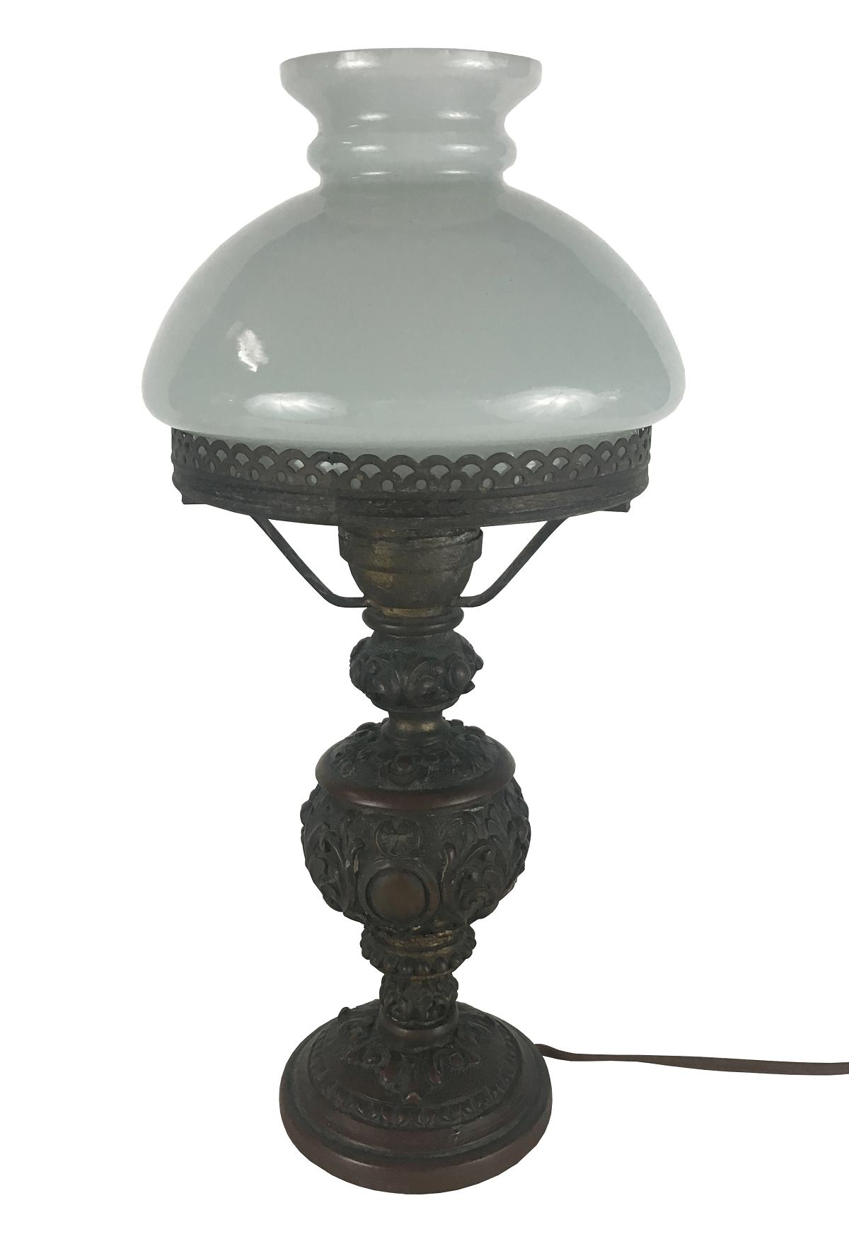 Antigo Abajur Luminaria Cupula Leitosa