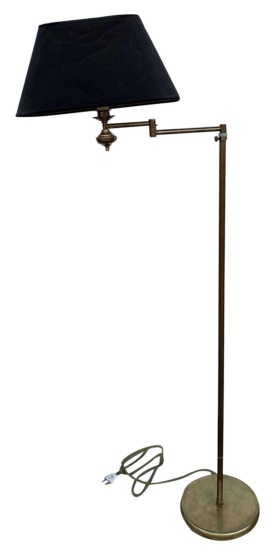 Antigo Abajur Luminaria Pedestal Ingles Em Bronze