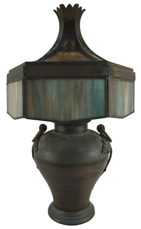 Antigo Abajur Metal Estilo Tiffany