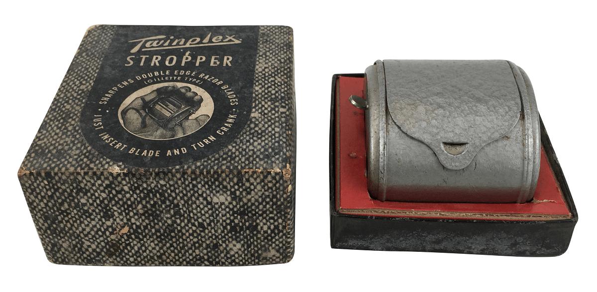 Antigo Amolador De Gilette Twinplex Stropper Na Caixa