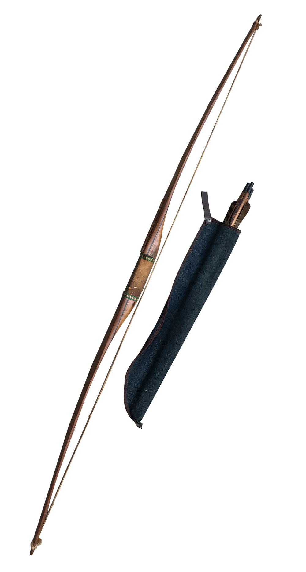 Antigo Arco E Flecha Indigena Madeira