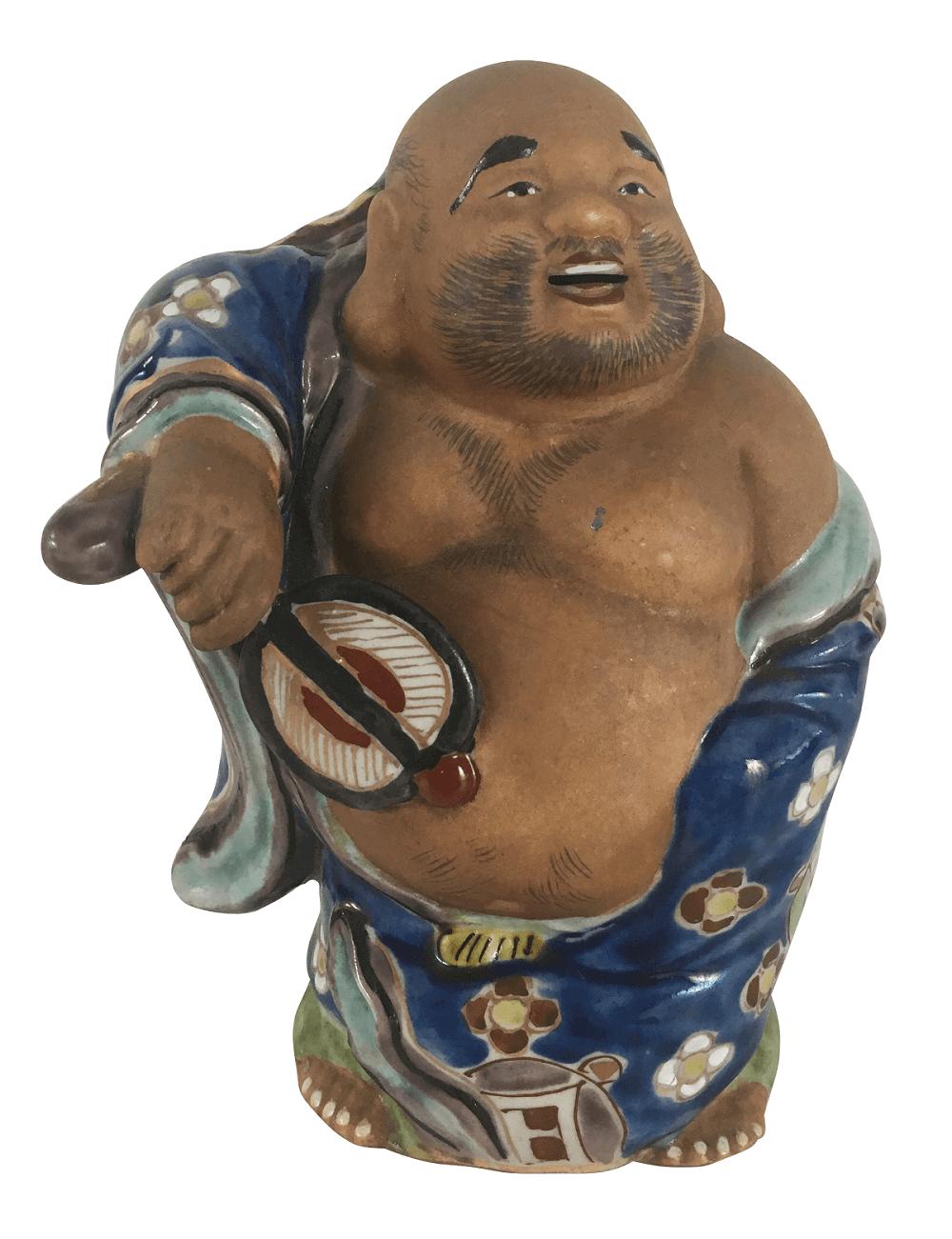 Antigo Buda Porcelana Japonesa 17cm
