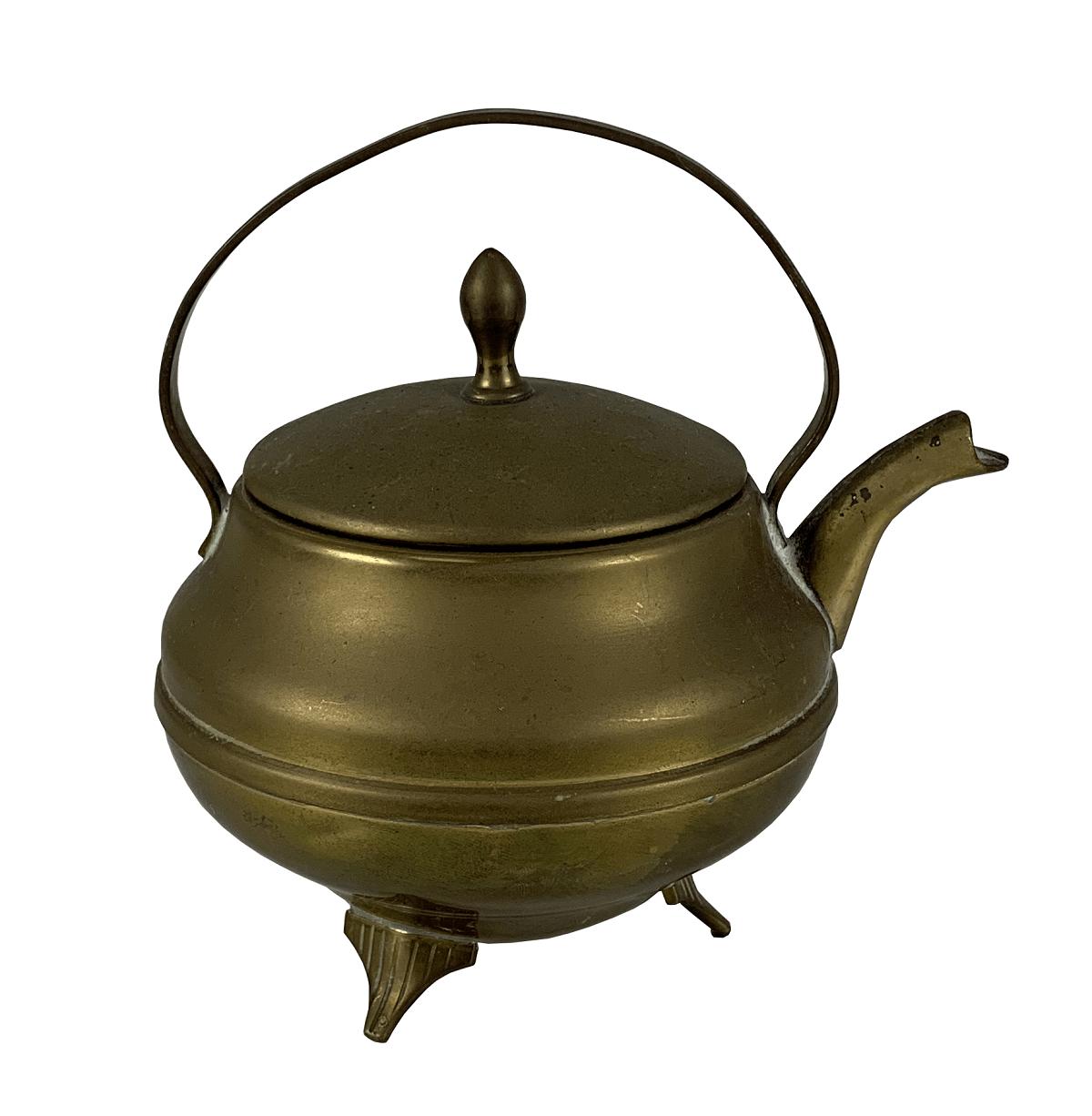 Antigo Bule Chaleira Miniatura Bronze