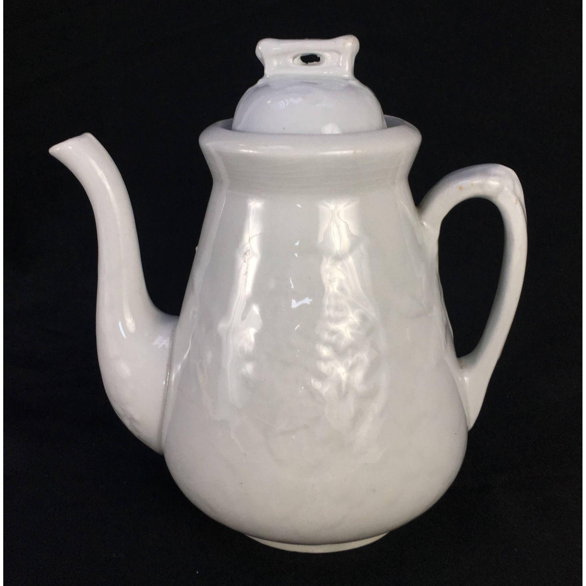 Antigo Bule Porcelana Inglesa Branco J & G Meakin