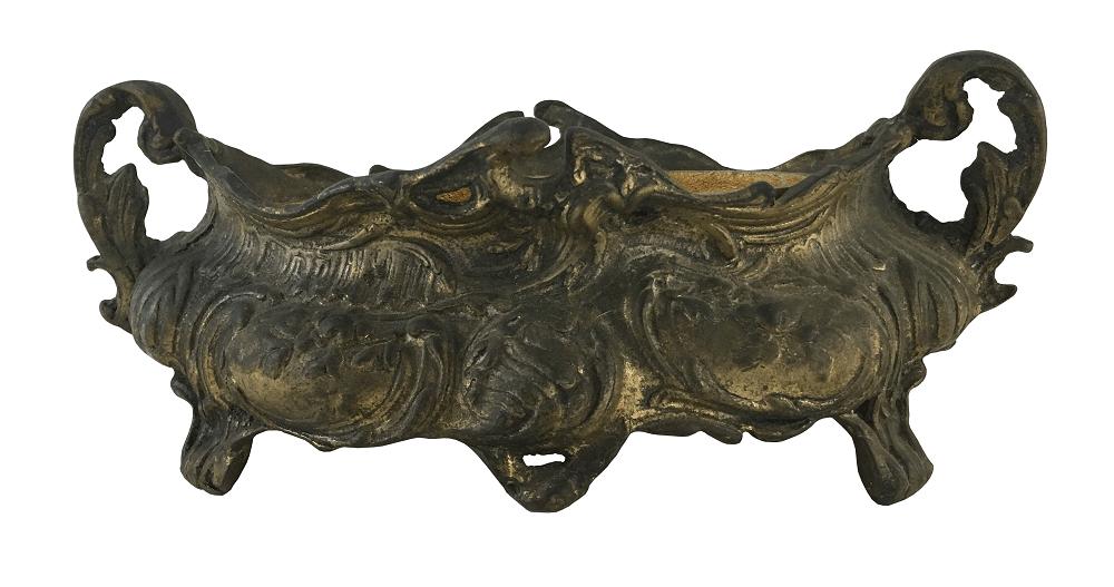 Antigo Centro De Mesa Floreira Em Bronze