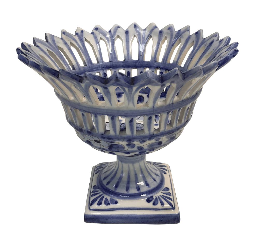 Antigo Centro De Mesa Fruteira Ceramica Luiz Salvador