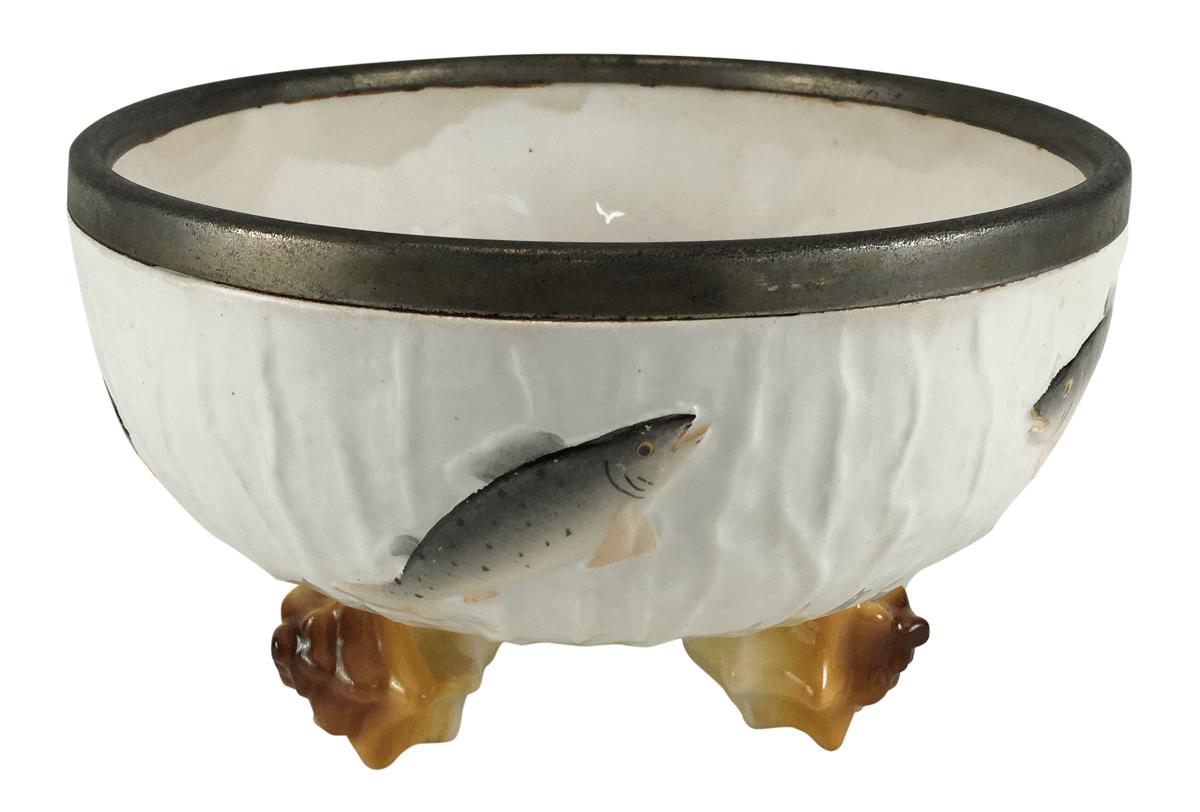 Antigo Centro De Mesa Porcelana Alema Roesler