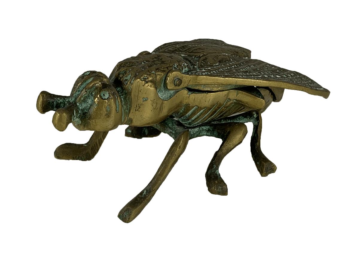 Antigo Cinzeiro De Bronze Formato Mosca