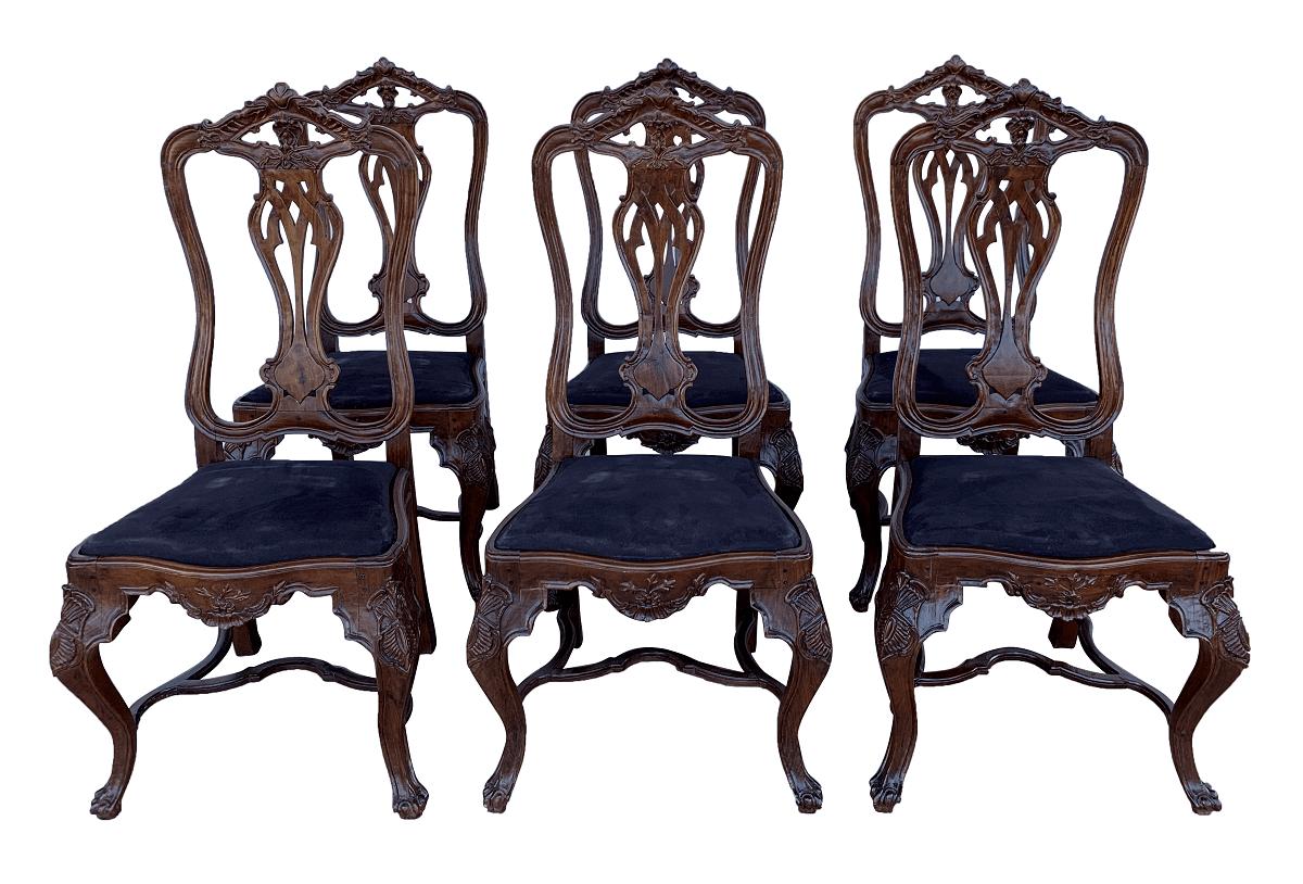 Antigo Conjunto 6 Cadeiras Dom Jose Jacaranda Mineiro