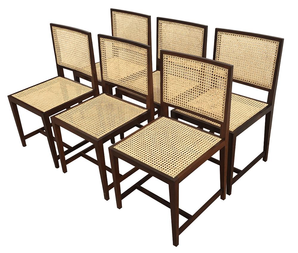 Antigo Conjunto 6 Cadeiras Jacaranda Anos 60 Design