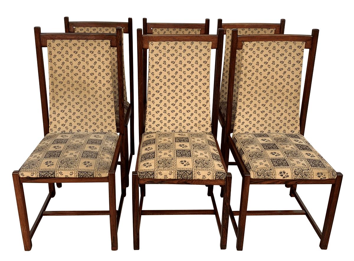 Antigo Conjunto 6 Cadeiras Jacaranda Design Anos 60