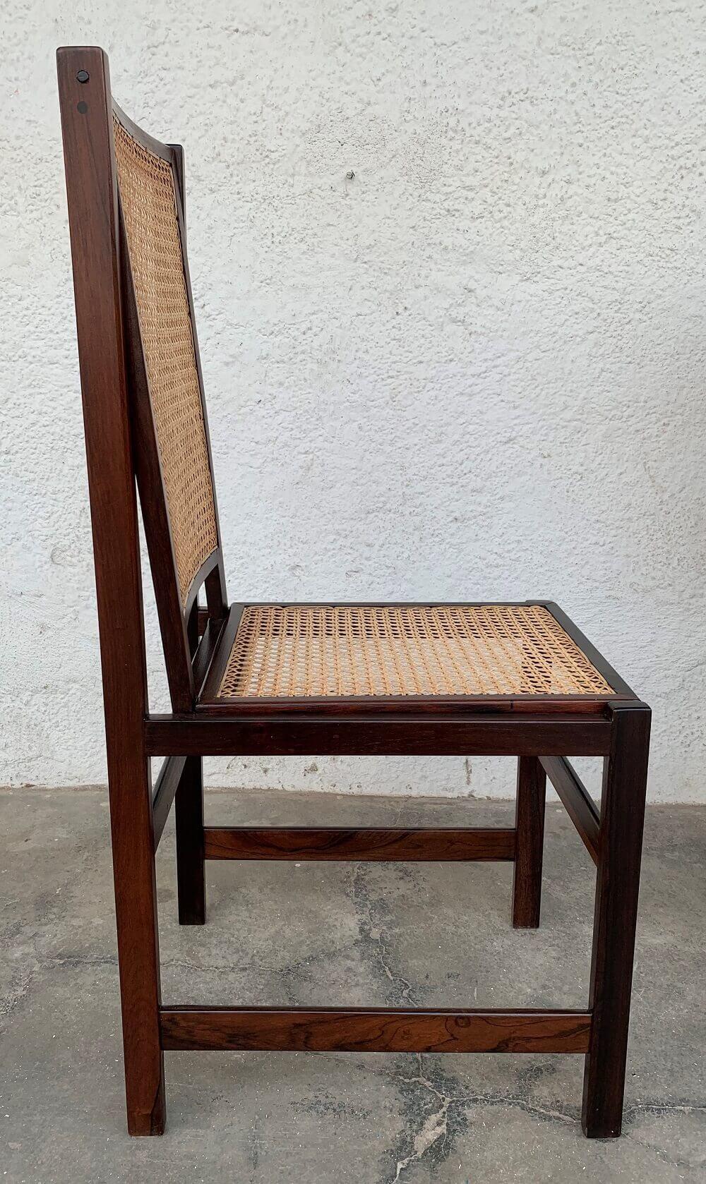Antigo Conjunto De 4 Cadeiras Em Jacaranda Design Anos 60