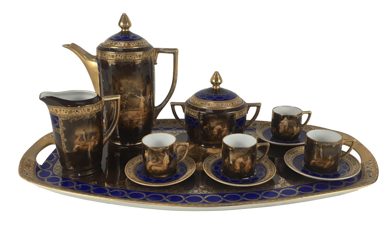 Antigo Conjunto De Cafe Porcelana Czechoslovakia