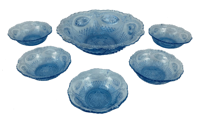Antigo Conjunto De Saladeira Em Vidrao