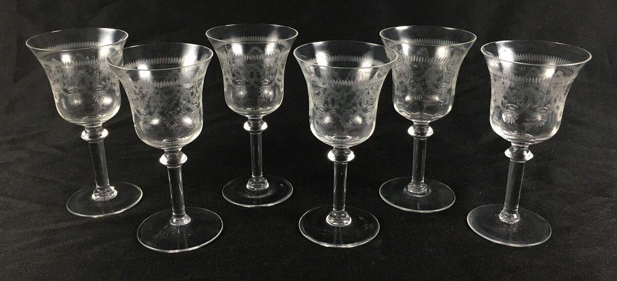 Antigo Conjunto De Taças Cristal Saint Louis Guirlanda 15cm Altura
