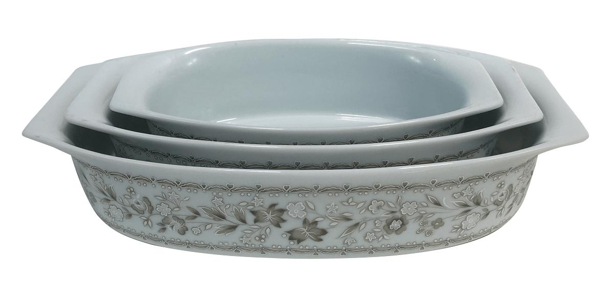 Antigo Conjunto Travessa Porcelana Real Colorama