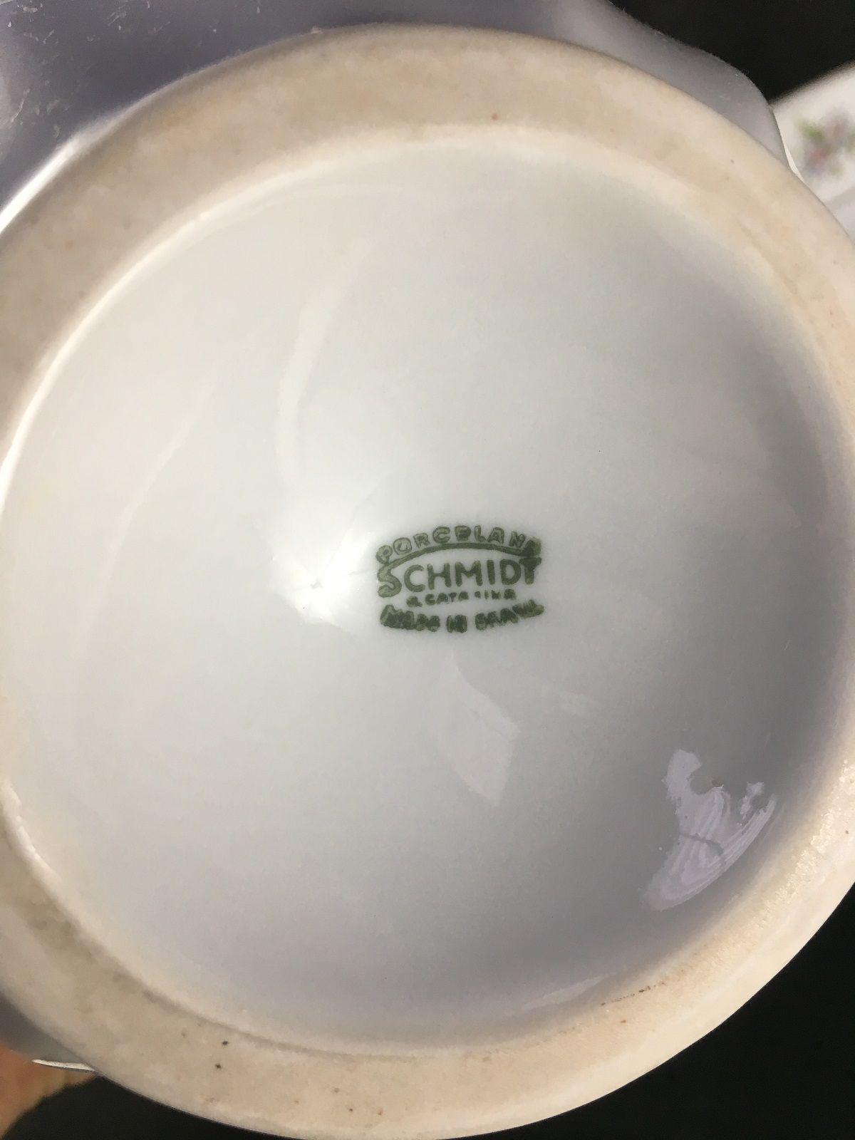 Antigo Gomil Jarro E Bacia Porcelana Schmidt