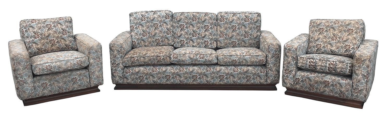 Antigo Jogo De Sofa E Poltronas Art Deco Tecido Gobelin