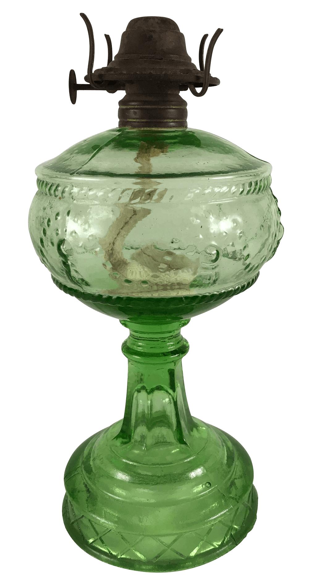 Antigo Lampiao Vidrao Verde