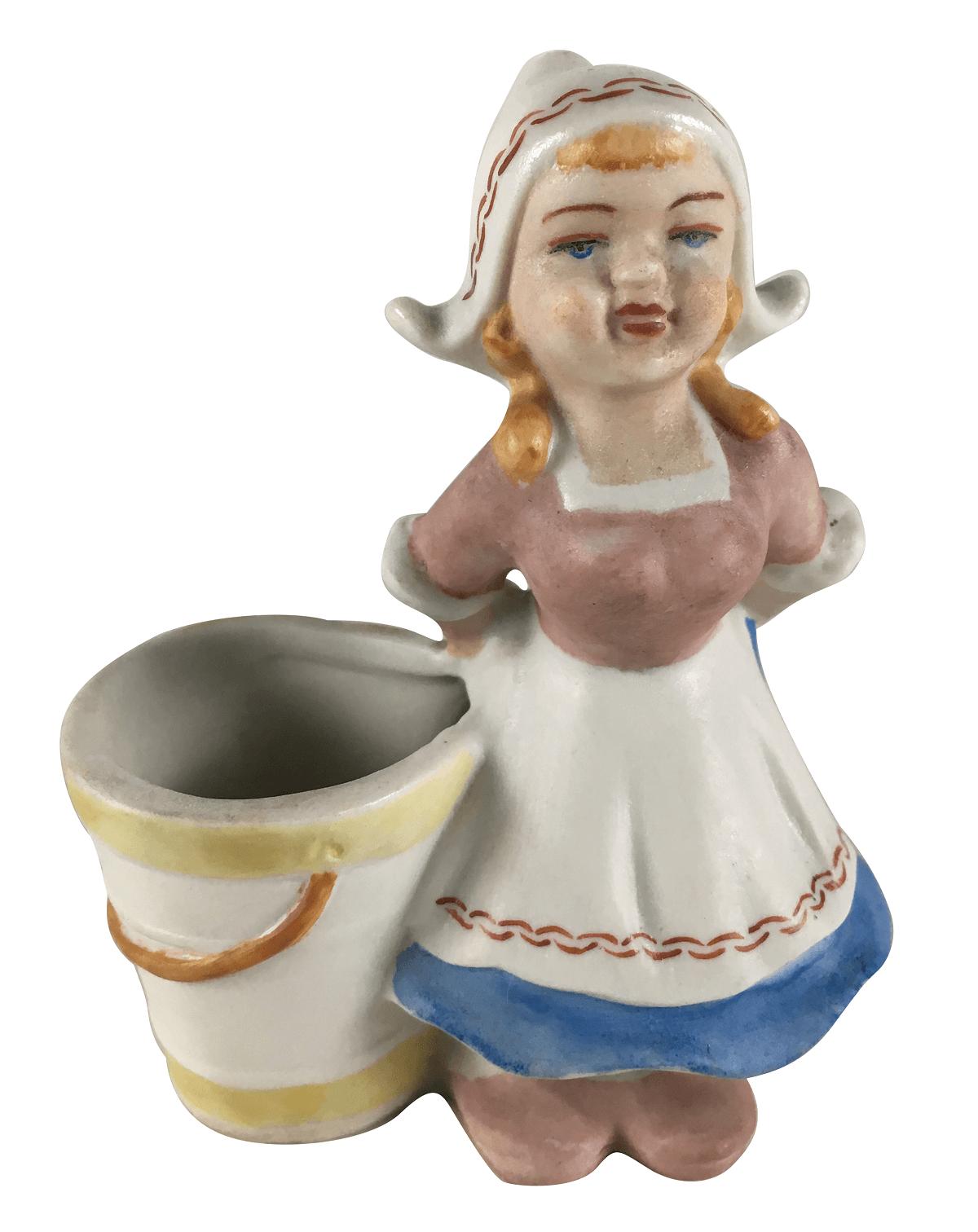 Antigo Paliteiro Porcelana Biscuit