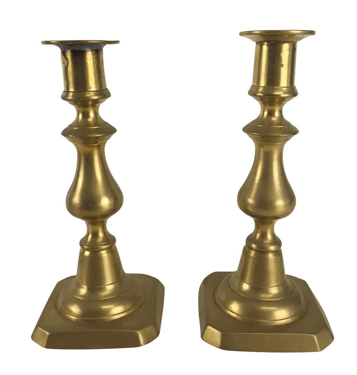Antigo Par Castiçal Bronze
