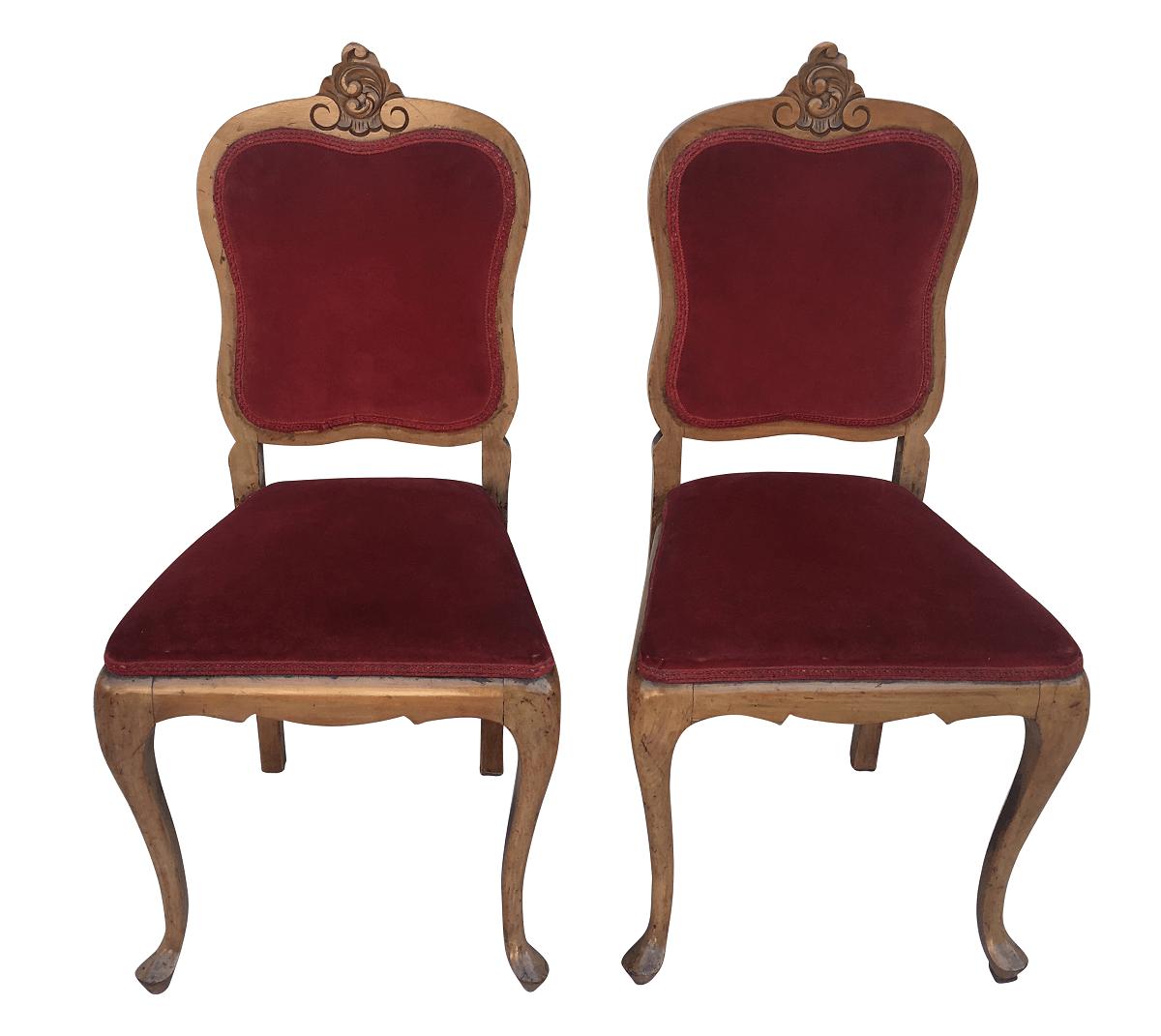Antigo Par De Cadeira Chipandelle Decorativa Em Peroba