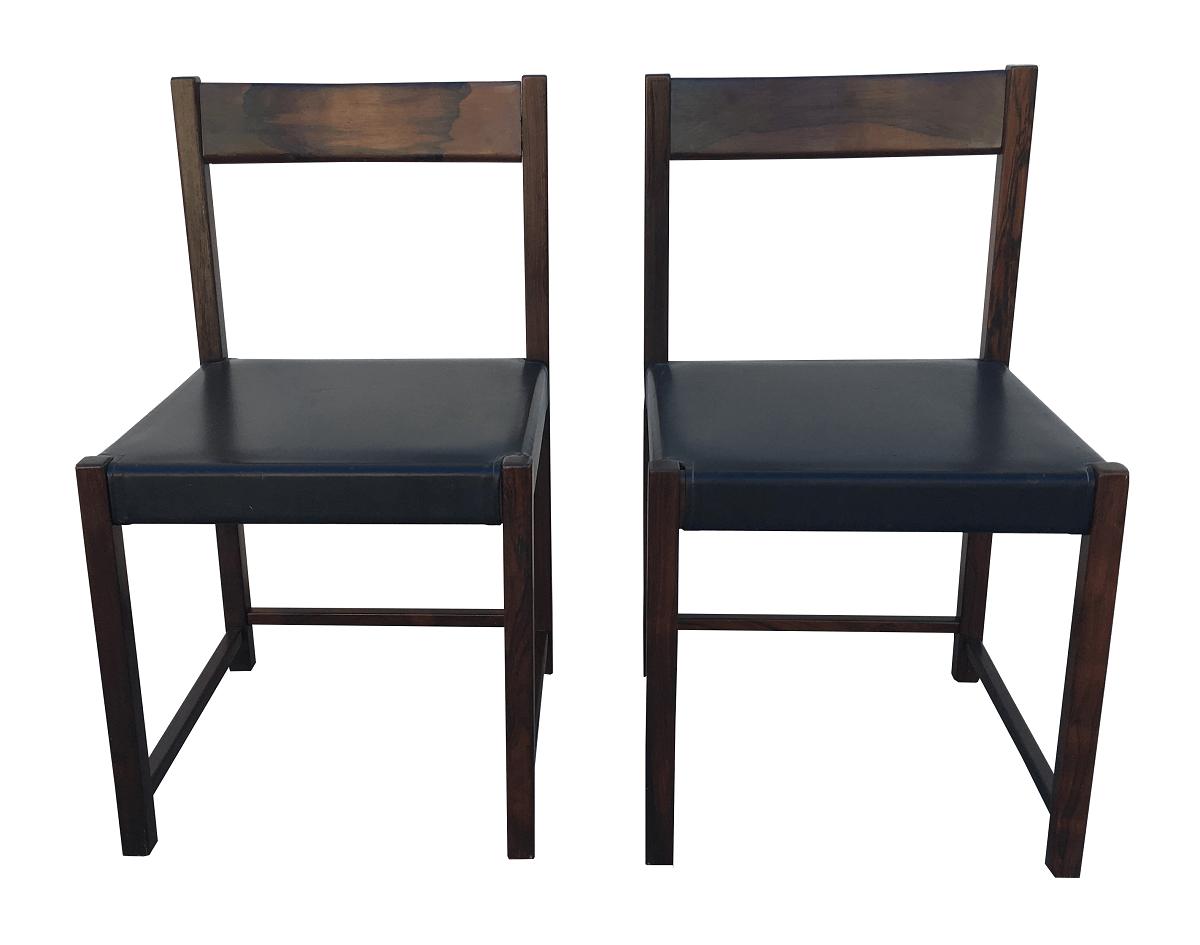 Antigo Par De Cadeira Em Jacaranda Maciço