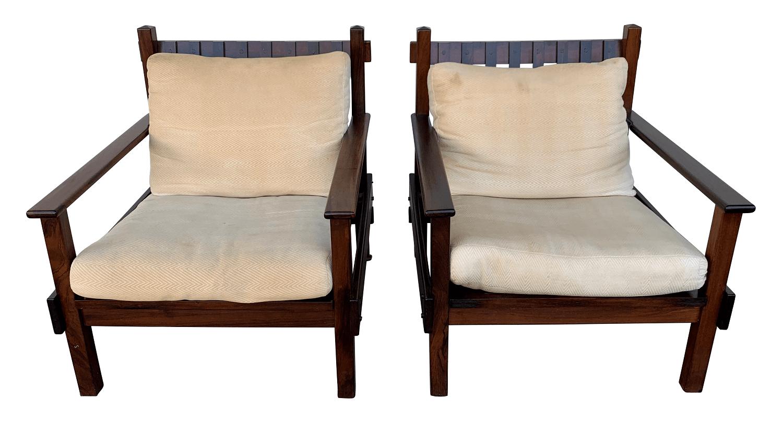 Antigo Par De Poltrona Jacaranda Design Anos 60