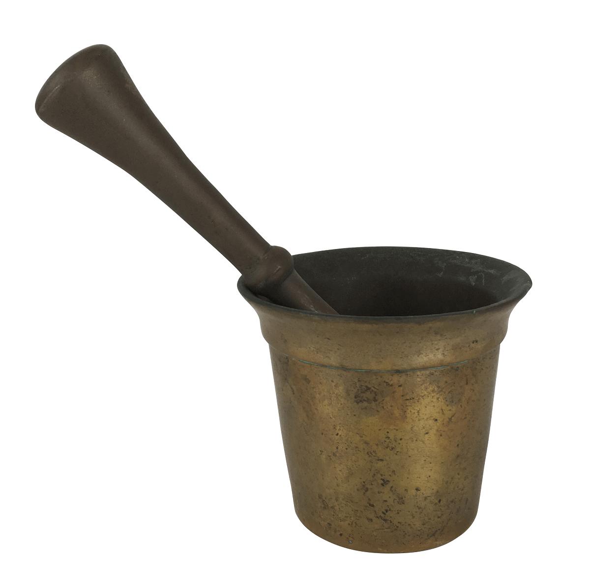 Antigo Pilao Em Bronze