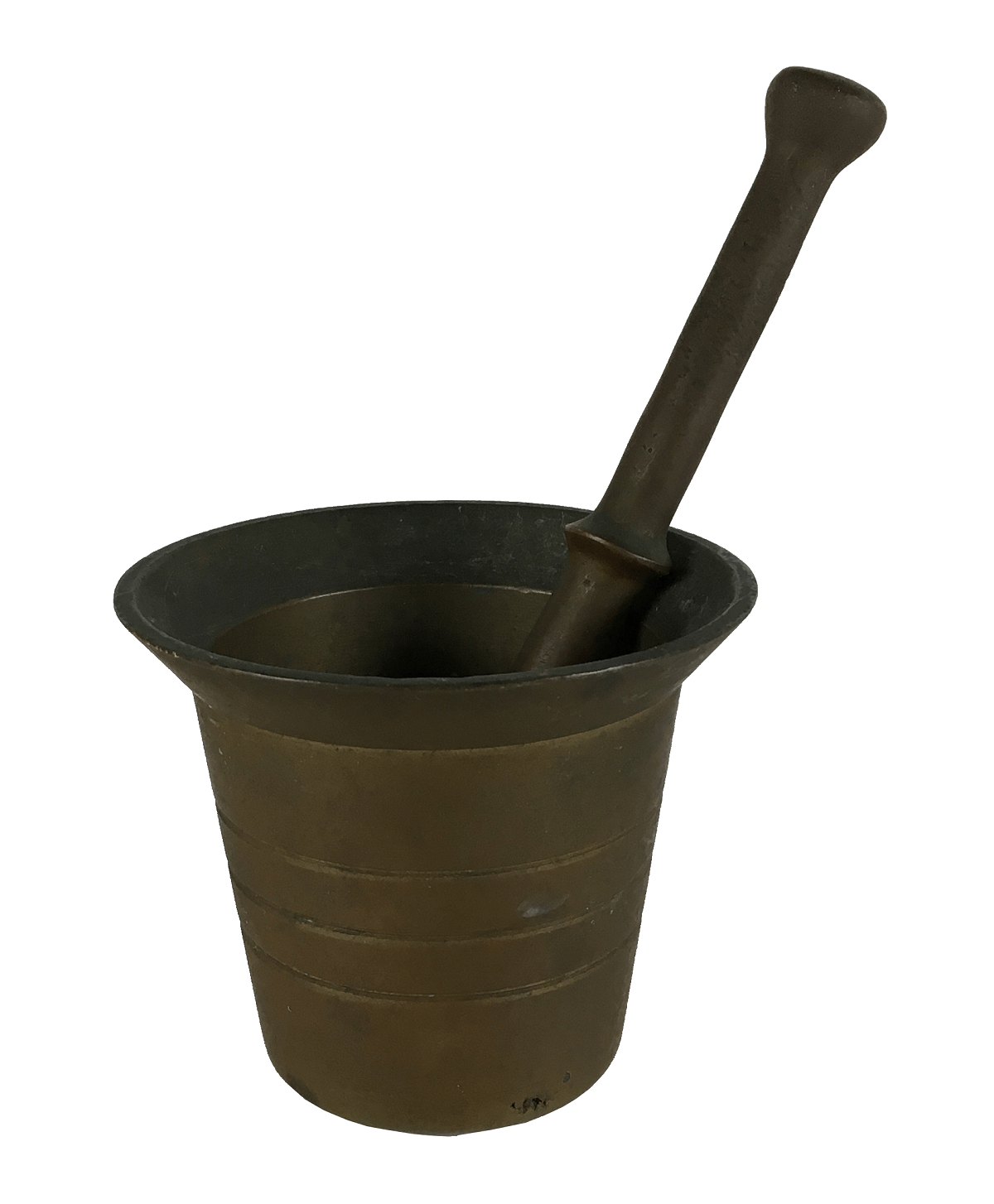 Antigo Pilao Em Bronze 8cm Altura