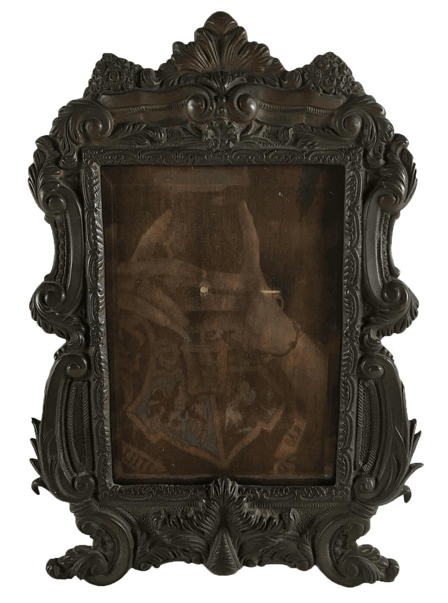 Antigo Porta Retrato Em Bronze Belissimo