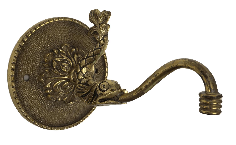 Antigo Porta Toalha Em Bronze Para Banheiro