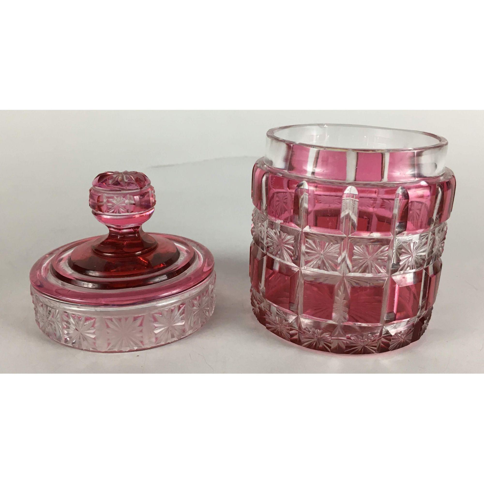 Antigo Pote Cristal Baccarat Rosa Bela Lapidação