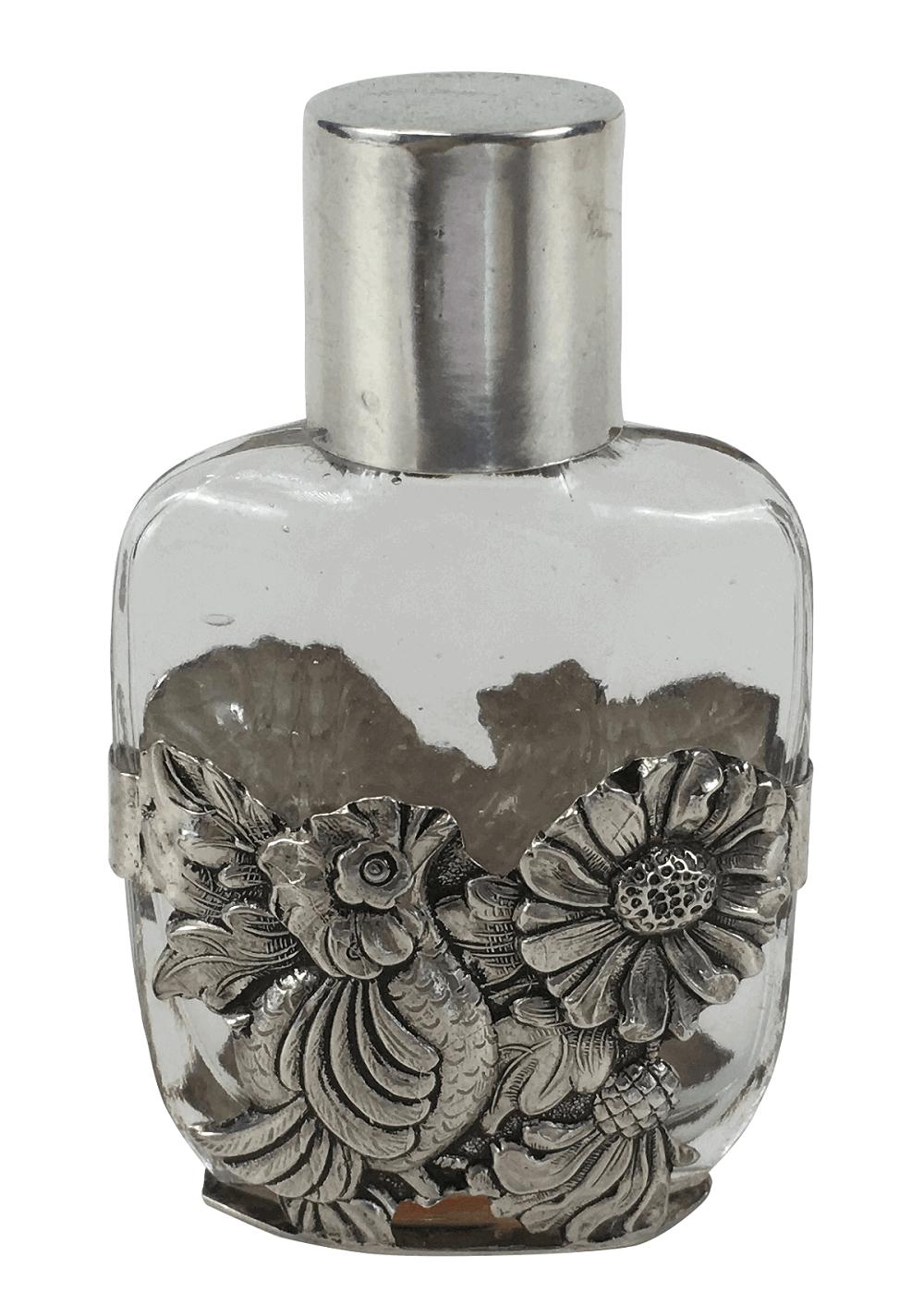 Antigo Potinho Perfume Prata De Lei Portuguesa Aguia